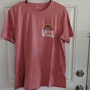 """Brand New """"Love Wins"""" T-shirt/Sleep Shirt"""